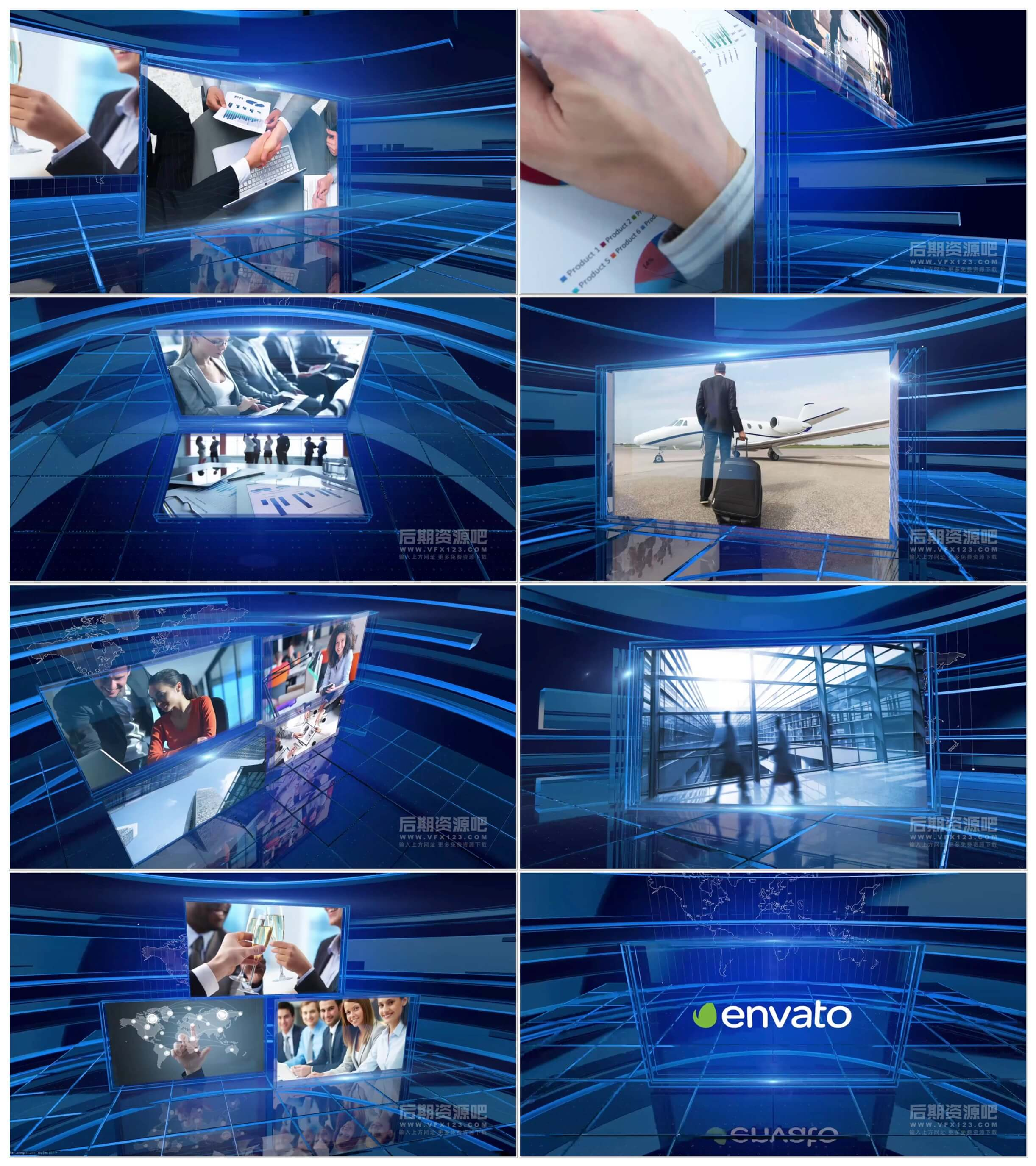 Motion模板 企业商务公司宣传图文展示片头模板 Corporate Displays