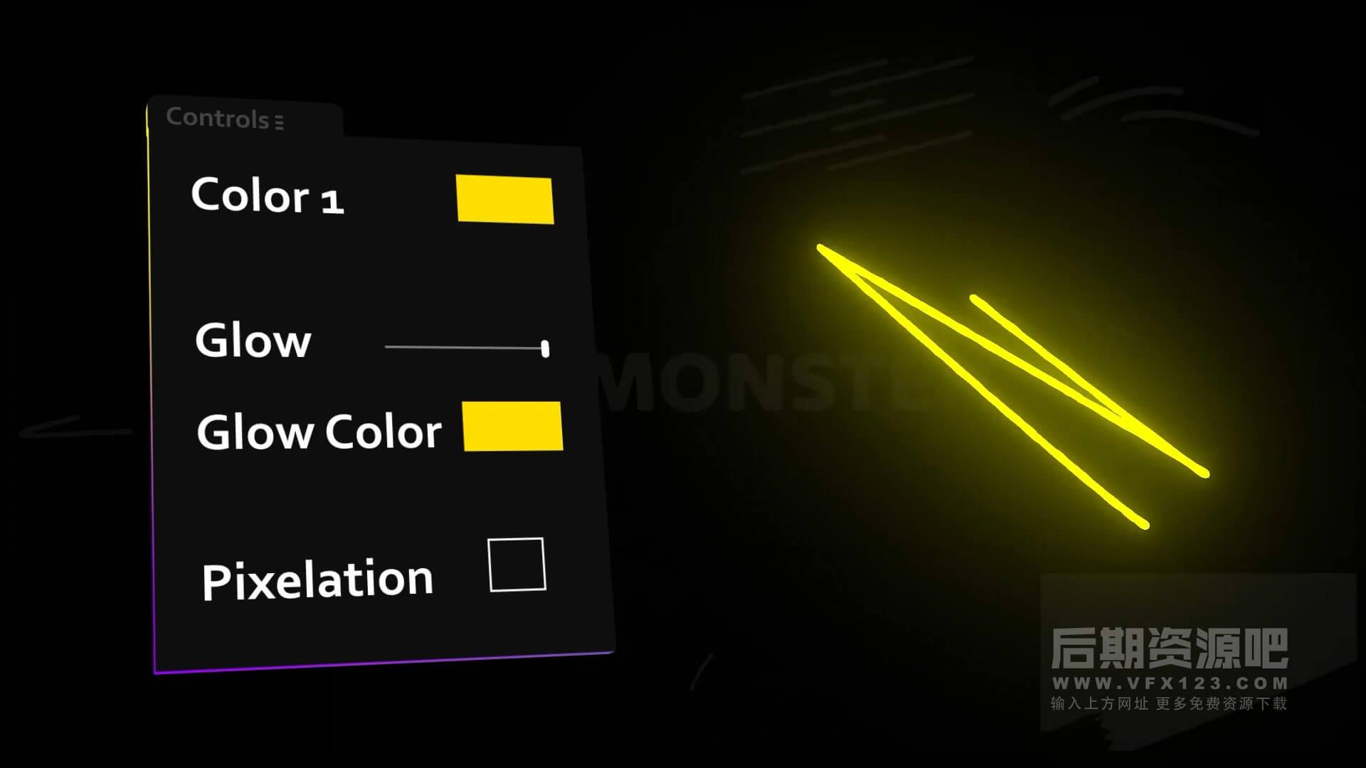 fcpx插件 12组动态装饰涂鸦元素可加辉光效果含转场及音效 Scribble Elements
