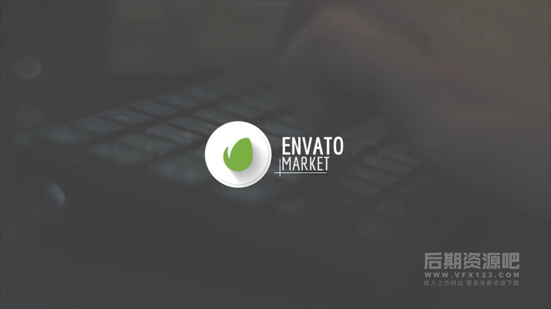 Motion模板 简约干净徽标LOGO展示片头片尾模板 clean fast logo reveal