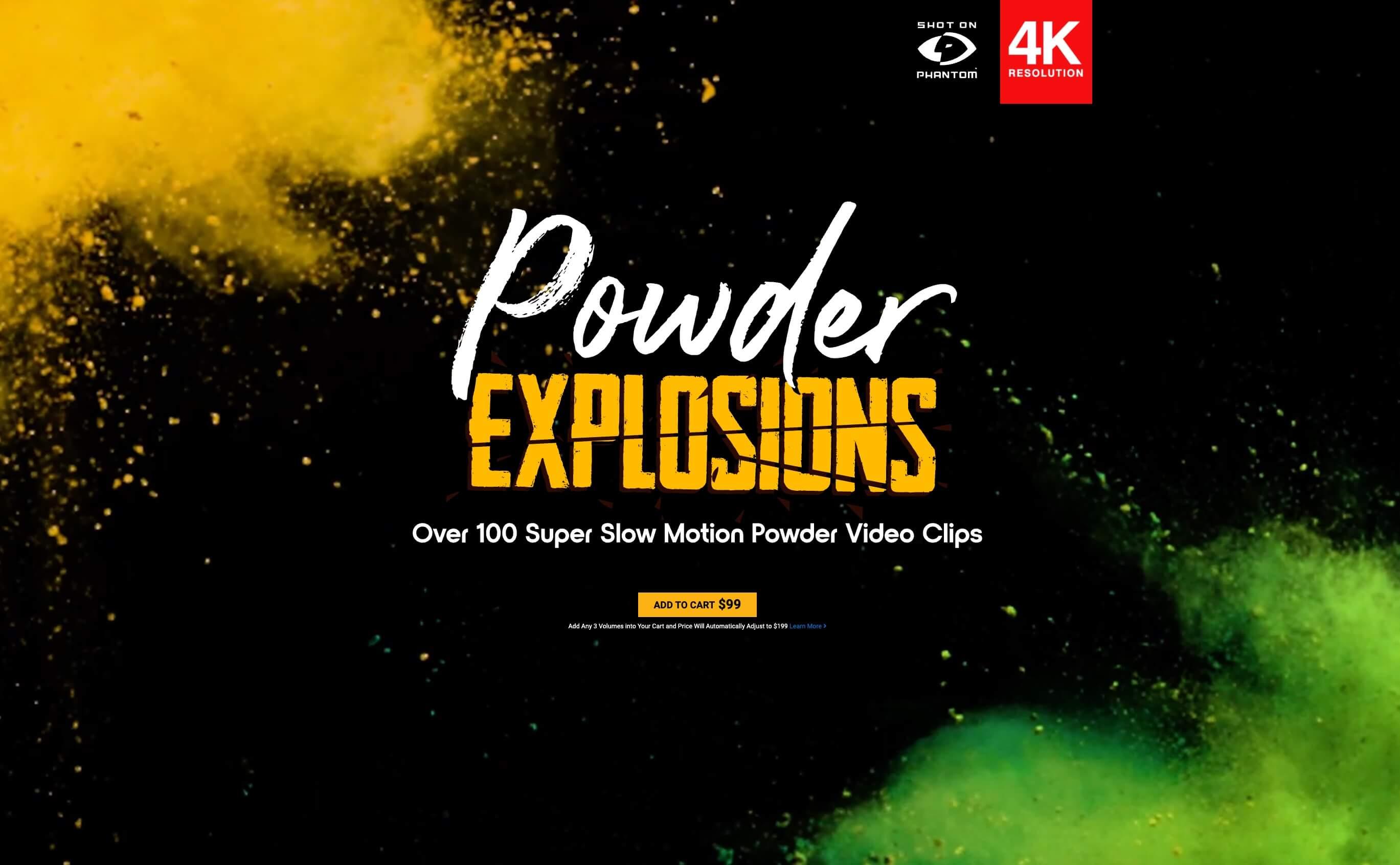 108个4K彩色粉末慢动作爆炸飞散动画 特效合成素材 Powder Explosions BBV08