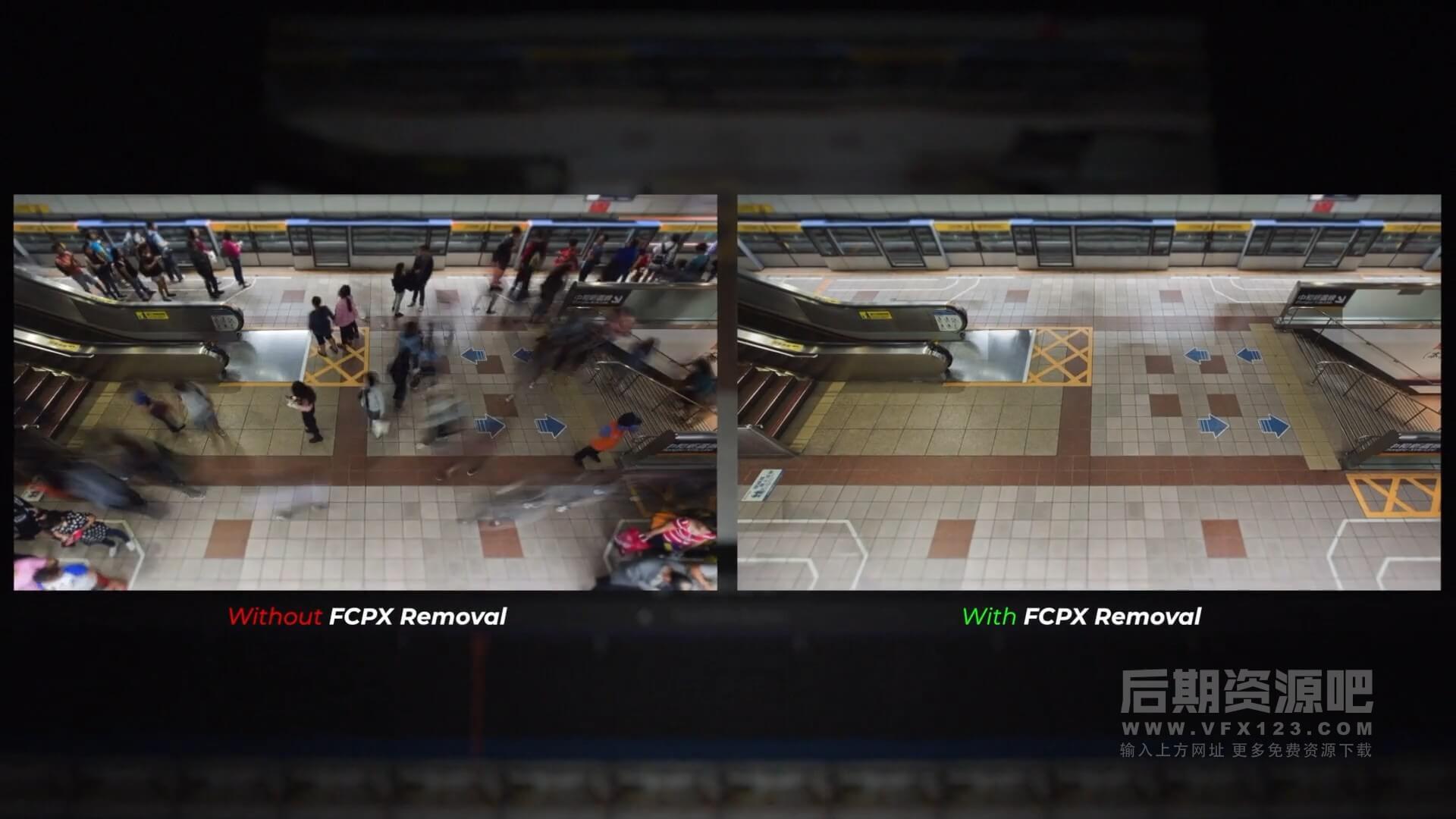 fcpx插件 动态对象删除工具 轻松擦除影片中移动物体 FCPX Removal