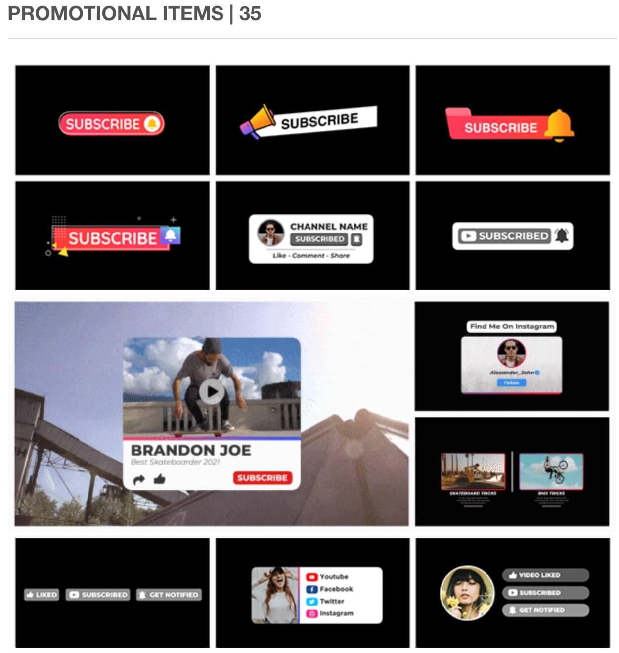 fcpx插件 558个社交媒体字幕条标题图文排版设计宣传介绍LOGO图形动画