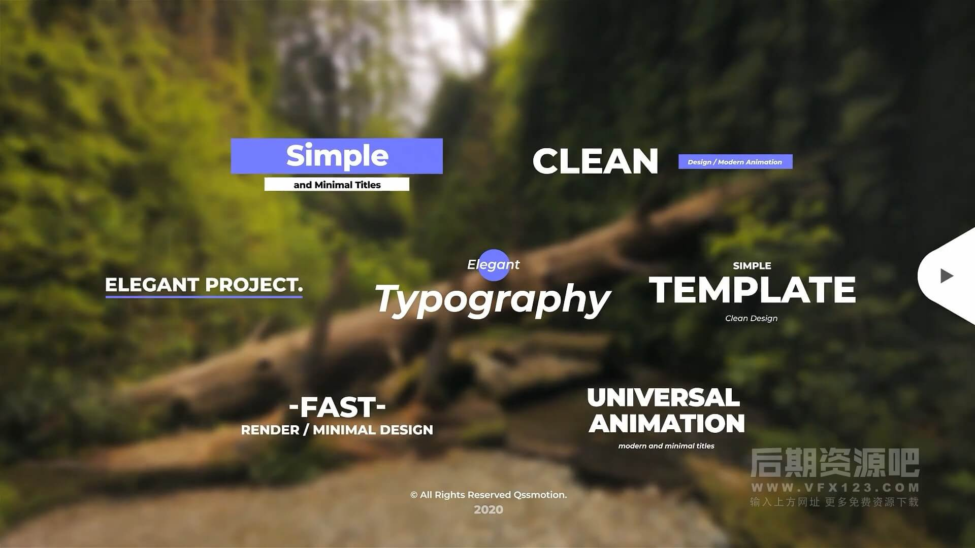 fcpx插件 简洁时尚文字标题动画字幕条模板 Simple And Minimal Titles