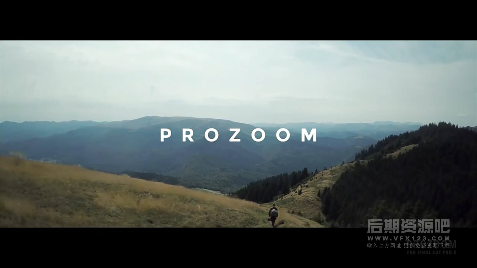 fcpx插件 画面局部平滑缩放平移旋转工具 4种时长预设 ProZoom